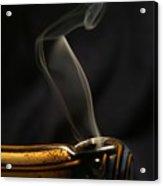 Smoke Diver Acrylic Print by Lynda Dawson-Youngclaus