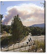 Smoke From Ventura Wildfire, View Acrylic Print