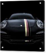 Black Porsche 911 Acrylic Print
