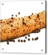 Smoked Salmon Fillet With Black Pepper Acrylic Print