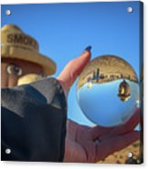 Smokey Bear Balloon In The Crystal Ball Acrylic Print