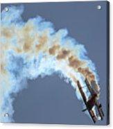 Smokey Biplane Acrylic Print