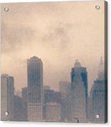 Smokey Cityscape Acrylic Print