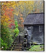 Smokey Mountain Grist Mill Acrylic Print