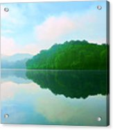 Smokey Mountain Lake Acrylic Print