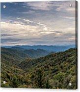 Smokey Mountain Sky Acrylic Print