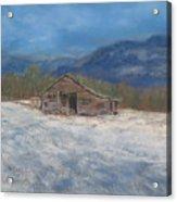 Smokey Mountain Winter Acrylic Print
