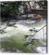 Smokey River Run Acrylic Print