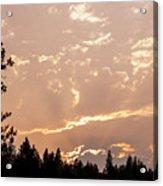 Smokey Skies Sunset Acrylic Print