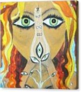 Smokin Bellydancer Acrylic Print