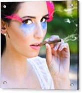 Smoking Glamour Acrylic Print