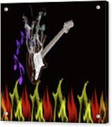Smoking Guitar Acrylic Print