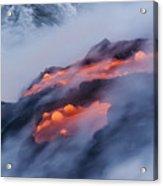 Smoking Pahoehoe Lava Acrylic Print