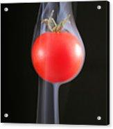 Smoking Tomato Acrylic Print