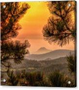 Smoky Black Hills Sunrise Acrylic Print