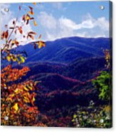 Smoky Mountain Autumn View Acrylic Print