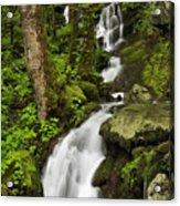 Smoky Mountain Cascade - D002388 Acrylic Print