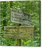 Smoky Mountain Directional Acrylic Print