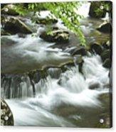 Smoky Mountain Rapids Acrylic Print by Andrew Soundarajan