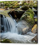 Flowing Stream #3, Smoky Mountains, Tennessee Acrylic Print