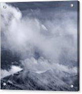 Smoky Mountain Vista In B And W Acrylic Print