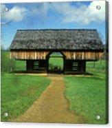 Smoky Mountains Cantilever Barn Acrylic Print
