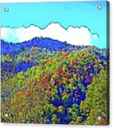 Smoky Mountains Scenery 6 With Sunny Day Filter Acrylic Print