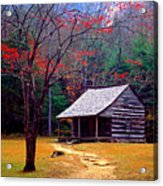 Smoky Mtn. Cabin Acrylic Print by Paul W Faust -  Impressions of Light