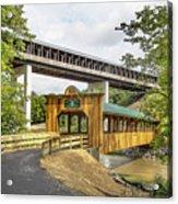 Smolen-gulf Bridge And Riverview Walk Bridge Acrylic Print