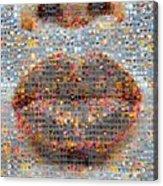 Smooch Acrylic Print by Boy Sees Hearts