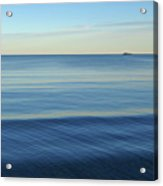 Smooth Blue Water On The Lynn Waterfront Acrylic Print