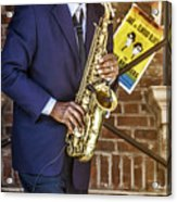 Smooth Sax Man Acrylic Print