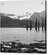 Smooth Seward Alaska Grayscale Acrylic Print