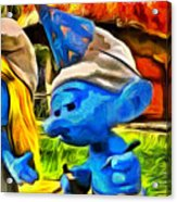 Smurfette And Friends - Pa Acrylic Print