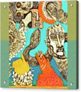 Snake And Skull Acrylic Print