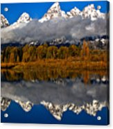 Snake River Fall Reflections Acrylic Print