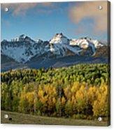 Sneffls Range Panorama From County Road 5  Acrylic Print