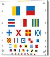 Snellen Chart - Nautical Flags Acrylic Print