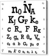 Snellen Chart - Physical Constants Acrylic Print