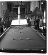 Snooker Room Acrylic Print