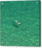 Snorkeling Acrylic Print
