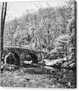 Snow Along The Wissahickon Creek Acrylic Print by Bill Cannon