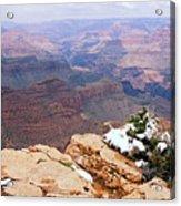 Snow And Canyon - Grand Canyon Acrylic Print