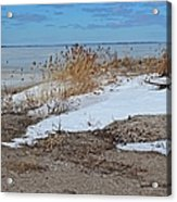 Snow And Sand Acrylic Print