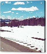 Snow And The Open Road Acrylic Print
