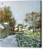 Snow At Argenteuil Acrylic Print