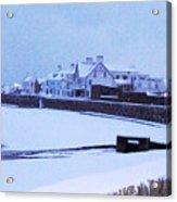 Snow At Cobo Beach Acrylic Print