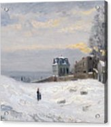 Snow At Montmartre Acrylic Print