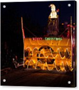 Snow Blower As Float In Shipshewana Light Parade Acrylic Print