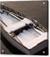 Snow Boat Acrylic Print